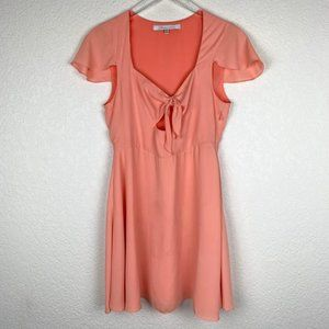 ⭐️2/$25 Lovers + Friends Chiffon Bow Flare Dress M